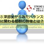 vol.33:深部感覚からみたバランス修正に関わる筋群の特徴とは?:脳卒中/脳梗塞のリハビリ論文サマリー