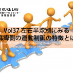 vol.37:左右半球別にみる非麻痺側の運動制御の特徴とは?         脳卒中/脳梗塞のリハビリ論文サマリー