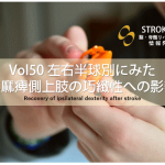 vol.50:左右半球別にみた非麻痺側上肢の巧緻性への影響           脳卒中/脳梗塞のリハビリ論文サマリー