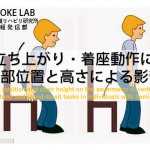 vol.63:立ち上がり・着座動作における足部位置と高さによる影響                 脳卒中/脳梗塞のリハビリ論文サマリー