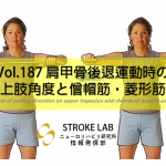 vol.187:肩甲骨後退運動時の上肢角度と僧帽筋・菱形筋   脳卒中/脳梗塞のリハビリ論文サマリー