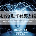 vol.190:動作観察と脳波について   脳卒中/脳梗塞のリハビリ論文サマリー