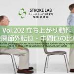 vol.202:立ち上がり動作-股関節外転位・中間位の比較-   脳卒中/脳梗塞のリハビリ論文サマリー