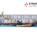 vol.221:下肢挙上時における腹直筋と大腿直筋   脳卒中/脳梗塞のリハビリ論文サマリー