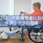 vol.258:片麻痺患者のペダリングの効果   脳卒中/脳梗塞のリハビリ論文サマリー