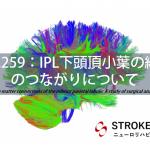 vol.259:IPL下頭頂小葉の線維のつながりについて  脳卒中/脳梗塞のリハビリ論文サマリー