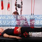 vol.260:筋骨格系へのスリングセラピーの基礎   脳卒中/脳梗塞のリハビリ論文サマリー
