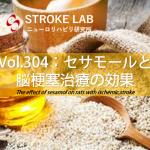 vol.304:セサモールと脳梗塞治療の効果  脳卒中/脳梗塞のリハビリ論文サマリー