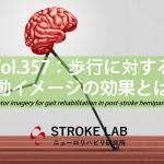 vol.357:歩行に対する運動イメージの効果とは?  脳卒中/脳梗塞のリハビリ論文サマリー