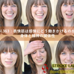 vol.363:表情筋は感情にどう働きかけるのか?身体と精神の関係性  脳卒中/脳梗塞のリハビリ論文サマリー